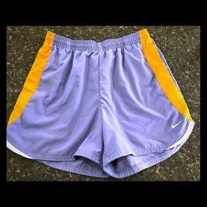Nike Womens Athletic Running Shorts Medium Purple